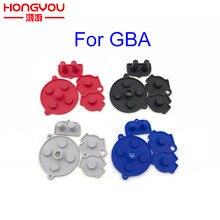 Juego de 20 botones de goma conductivos coloridos A B d pad para GameBoy Advance GBA teclado de selección de inicio de silicona