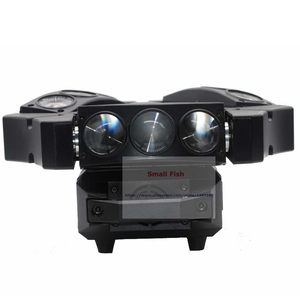 Image 4 - ขายร้อน! 1Pcs Moving Head Light มินิ LED Spider 9X3W RGB สีลำแสง 12/43 DMX Channel Fast การจัดส่ง