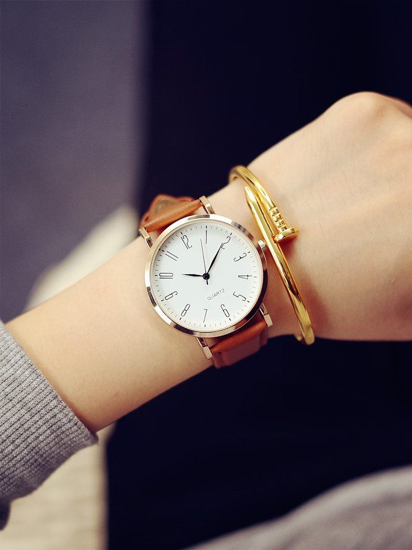 Unisex Fashion Watch Men Women Couple Watches Leather Quartz Wrist Watch Casual Design Simple No LOGO Ladies clock adjustable wrist and forearm splint external fixed support wrist brace fixing orthosisfit for men and women