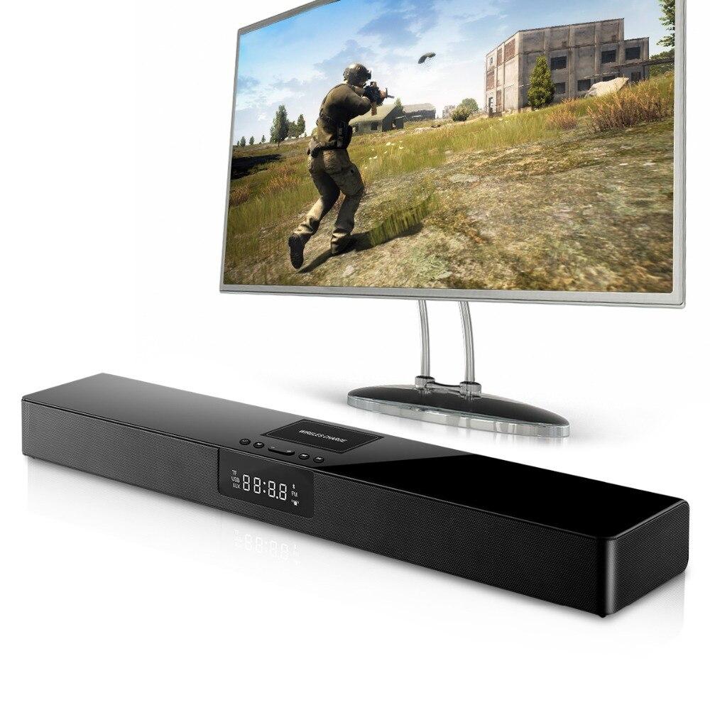 ELE ELEOPTION 4000mAh Column Wireless Bluetooth Speaker TV Soundbar Stereo Home Theater Sound Bar TF USB RCA Clock For PC TV