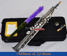 Black Nickel Soprano Saxophone Bb key to High F key and G key-2 Necks