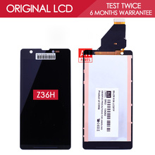 100% Tested Original 4.6 inch 1280×720 Display For SONY Xperia ZR LCD with Touch Screen Digitizer Assembly M36h C5502 C5503