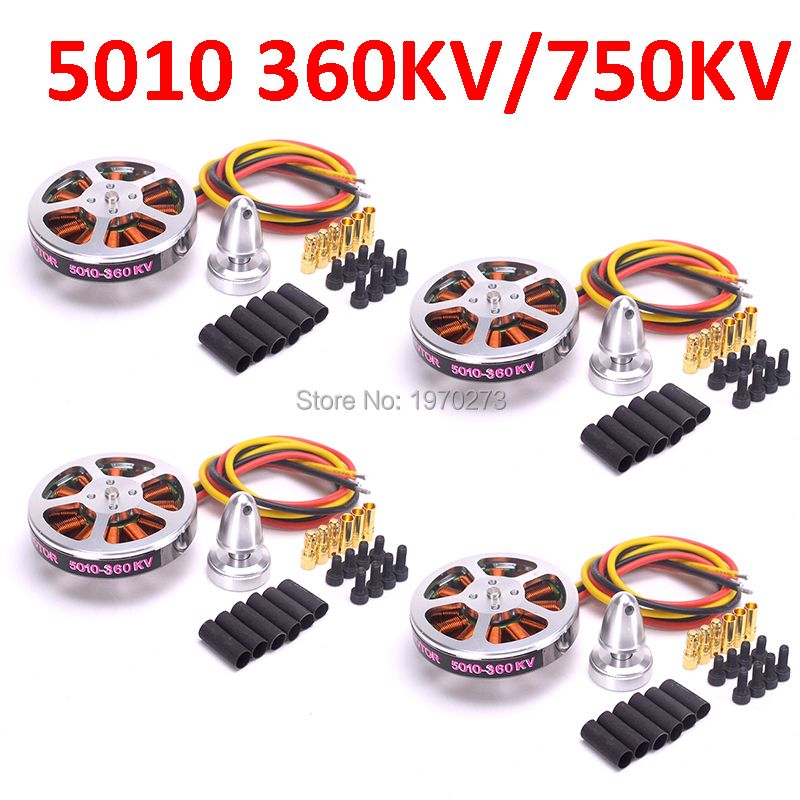 4pcs/lot <font><b>5010</b></font> 360KV / 750kv High Torque Brushless Motors For ZD550 ZD850 RC MultiCopter QuadCopter image