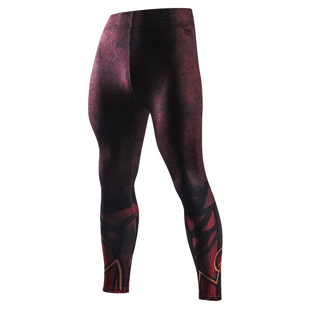 New Skinny Compression Pants Men 3D Printed The Flash Casual Leggings Men Tight Crossfit Male Trousers Casual Fitness Pants Men