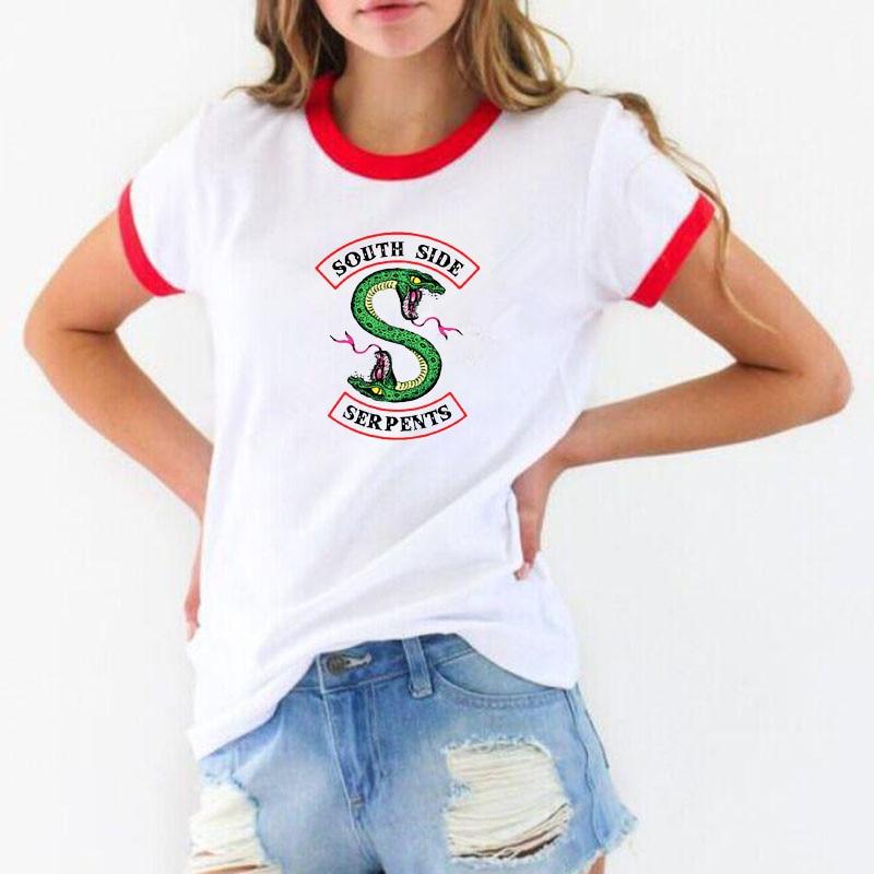 Riverdale T shirt Women Summer Tops SouthSide Serpents Jughead Female TShirt Clothing Riverdale South Side t-shirt ulzzang