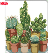 5D DIY Diamond Painting plants Full Square Diamond embroidery Cactus in the bottle Cross Stitch Rhinestone Mosaic decor