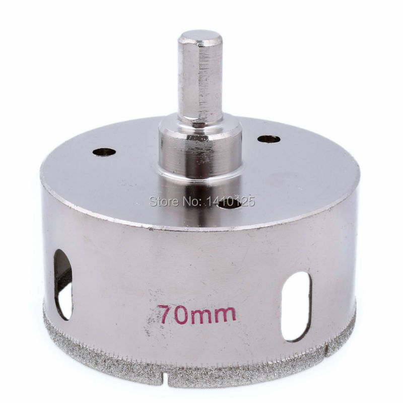 70 mm 2-3/4 inch Diamond Hole Saw Granite Drill Bit Coated Masonry Drilling Cutter Tools for Stone Marble Glass Ceramic Tile 70mm diamond coated drill bit set kit hole saw holesaw glass granite tile cutter holer cutting tool for glass ceramic marble