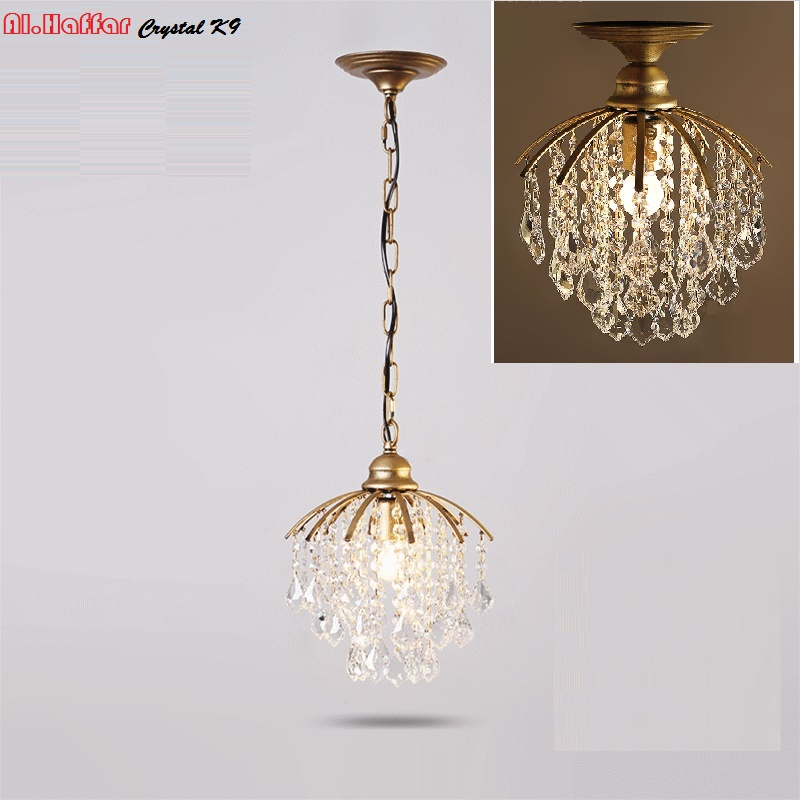 Crystal Modern Pendant Lights k9 kristal lampu kristal Pendant Lighting Lampu loket mewah Modern Hanging Lighting fixtures