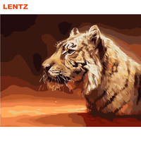 King Animals Tiger Lion Leopard Painting No Frame Pictures Painting By Numbers DIY Canvas Oil Painting