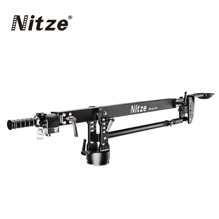 NITZE 10 KG charge professionnelle 2.4 m caméra Jib grue bras Pan 100mm bol avec sac de transport pour DSLR caméra vidéo 5D GH5 A7S-in Accessoires pour studio photo from Electronique    1