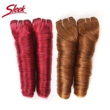 洗練されたレミー髪の自然ハリウッドルーズウェーブブラジルの毛織り束オンブル茶色 P6/27 P4/27 髪送料無料