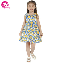 ФОТО girls summer&spring dress mq 2018 new arrival cotton loose sleeveless midi dresses for girls kids clothing casual style hot sale