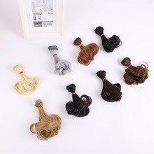 Allaosify 15cm*100cm wavy doll hairs SD AD 1/3 1/4 1/6 bjd doll diy Hair for BJD curly doll wigs tress