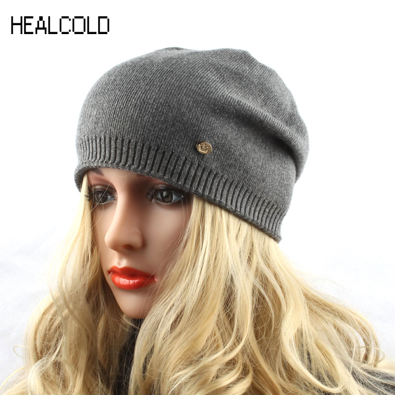 Hat Women Winter Knitted Hats for Women Spring Cashmere Wool Knit   Beanie   Cap Female   Skullies     Beanies
