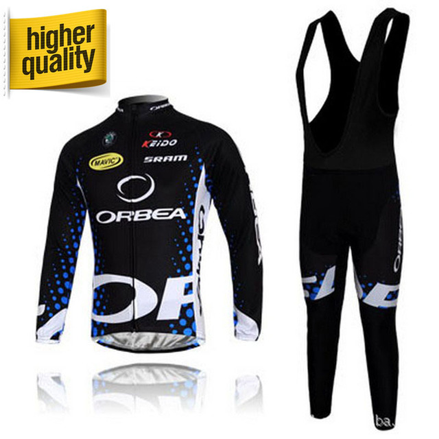 100% Polyester Black Blue ORBEA Sportswear Mountain Bike Ropa Ciclismo  Bicycle Wear Cycling Jerseys Long Sleeve e0f4aee22