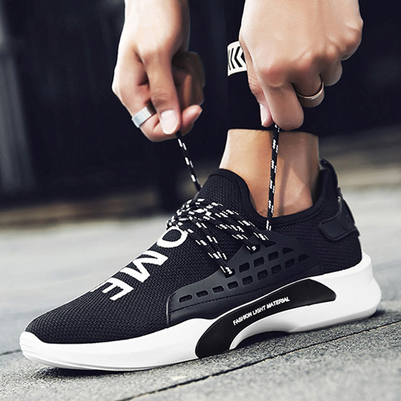 New Design Breathable Fashion Light Tenis Masculino Adulto Air Mesh Male Shoes Autumn Spring Trainers Rubber Sneakers For Lovers