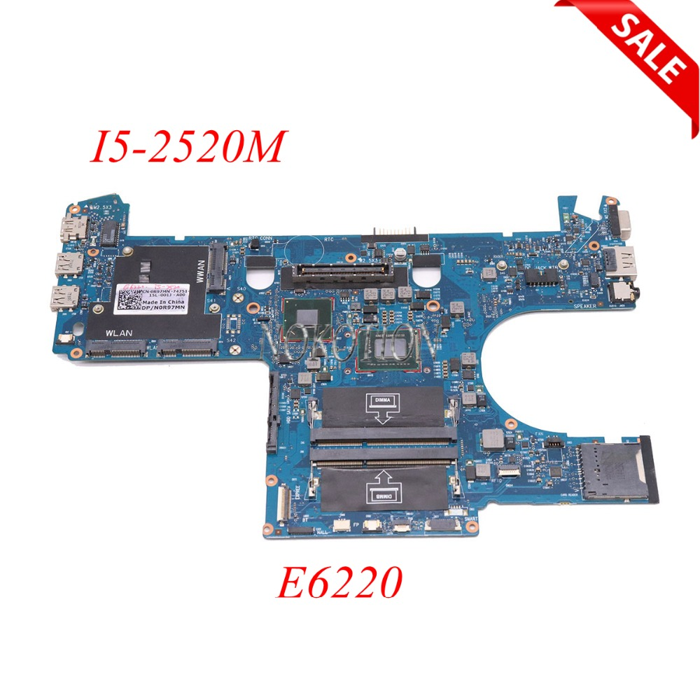 купить NOKOTION For Dell Latitude E6220 Laptop Motherboard 0R97MN CN-0R97MN Main Board I5-2520M CPU DDR3 6050A2428801-MB-A01 онлайн