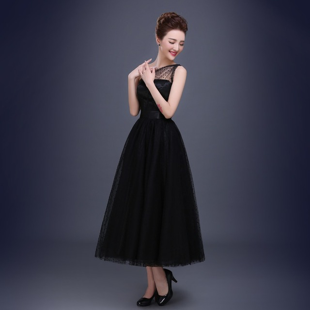 Best Selling Black Prom Dresses One Shoulder Pleats Polka Dot Tulle Tea Length Party Evening Gowns Short Vestido De Festa 5