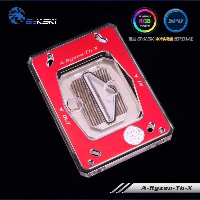Bykski refroidissement par eau radiateur CPU bloc utilisation pour AMD Ryzen frein à fil AM2/AM3/AM4/TR4/1950X RGB lumière AURA lumière radiateur bloc