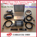 2016 merceders star Diagnosis Star C3 Multiplexer with newest Software DAS Xentry 2016.09 + Laptop for Panasonic works perfect