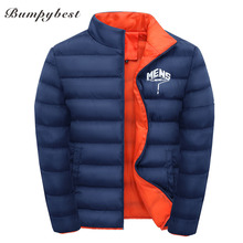 Bumpybeast Winter Jacket Men 2017 stand Padded Warm thicken jacket coat Clothing Stand Collar Male Solid printing Parkas coat