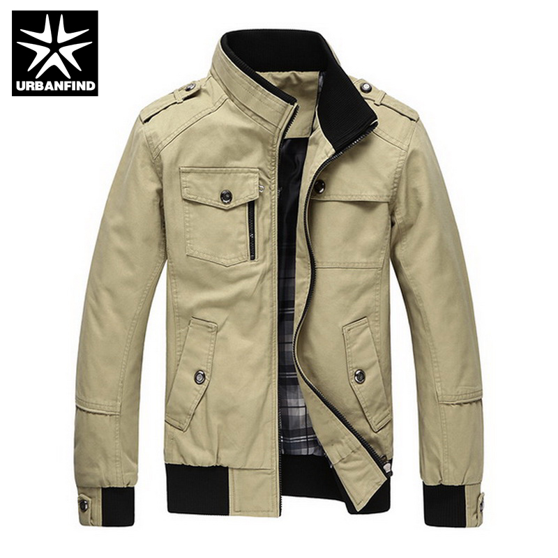 b525463c329 Casual Men s Jacket Spring Army Military Jacket Men Coats Winter Male  Outerwear Autumn Overcoat Khaki 3XL