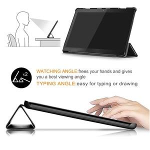 Image 5 - Чехол Funda для Lenovo Tab M10 10,1 дюймов чехол для планшета Lenovo Tab M10 TB X605F TB X605L чехол искусственная кожа + Жесткая задняя крышка из ПК