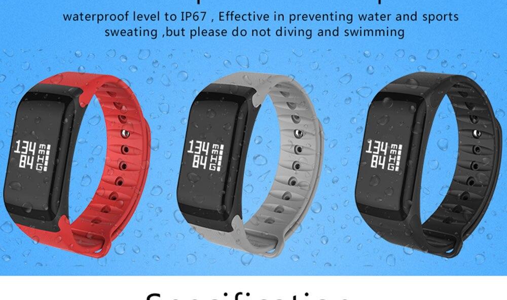 COXANG F1 Smart Bracelet Heart Rate Monitor Blood Pressure Wearfit Fitness  Tracker Pulsometer Passometer Activity Smart Bracelet