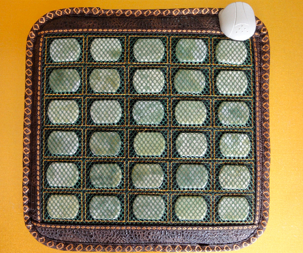 Good Quality! Natural Jade Mat Tourmaline Heat Cushion Body Health Care Pad with Heat AC220V 45*45CM Free Shipping good quality natural jade mat tourmaline heat chair cushion far infrared heat pad health care mat ac220v 45 45cm free shipping