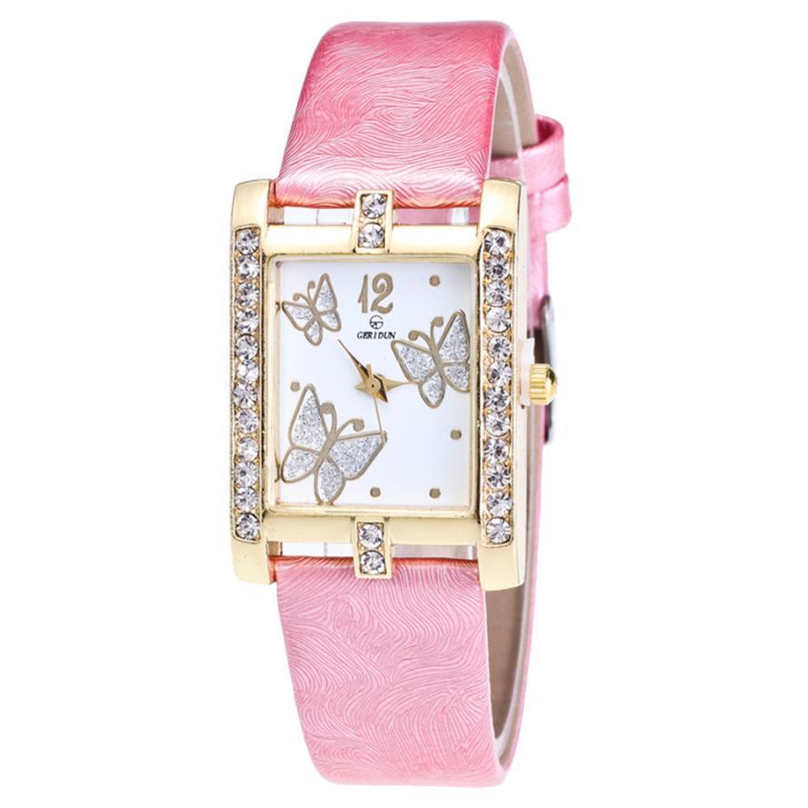 Dial Ladies Gold Watch Women Famous Brand Minimalist Quartz Watch Women Thin Casual Strap Watch Reloj Ladies Rose Gold Girls M3
