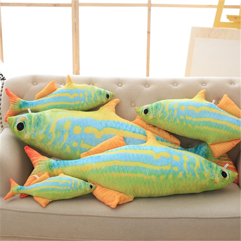 colorful large throw pillow fish shape decorative cushion home adorn emulational toys birthday present
