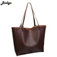 新しい簡単なデザイン有名なブランド女性レトロハンドバッグ大容量トートpuレザー女性ショル