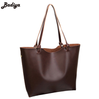 New Brief Design Famous Brand Women Retro Handbag Large Capacity Tote PU Leather Female Shoulder Bags