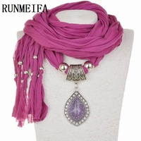 RUNMEIFA 2017 New Arrival Charms Scarf Jewellery Pendant Scarf Jewelry Scarves Necklace Scarf Free Shipping