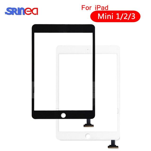 Dla iPad Mini 1 2 Mini 3 wysokiej jakości ekran dotykowy Digitizer zgromadzenia z klucza do domu przycisk i Home Flex kabel Mini1 Mini2 mini3