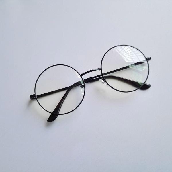 Dangan Ronpa Touko Fukawa Silver Circular Frame Cos Clear Lens Glasses Cosplay