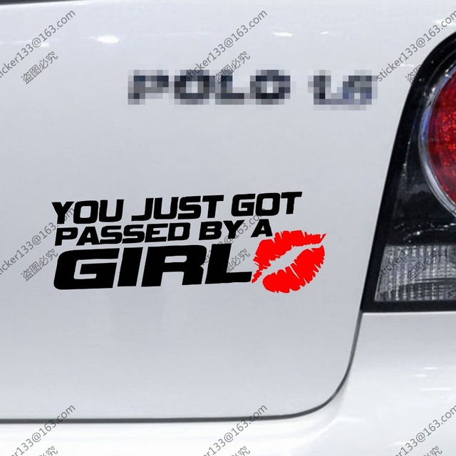 You just got passed by a girl car decal sticker funny vinylchoose your size