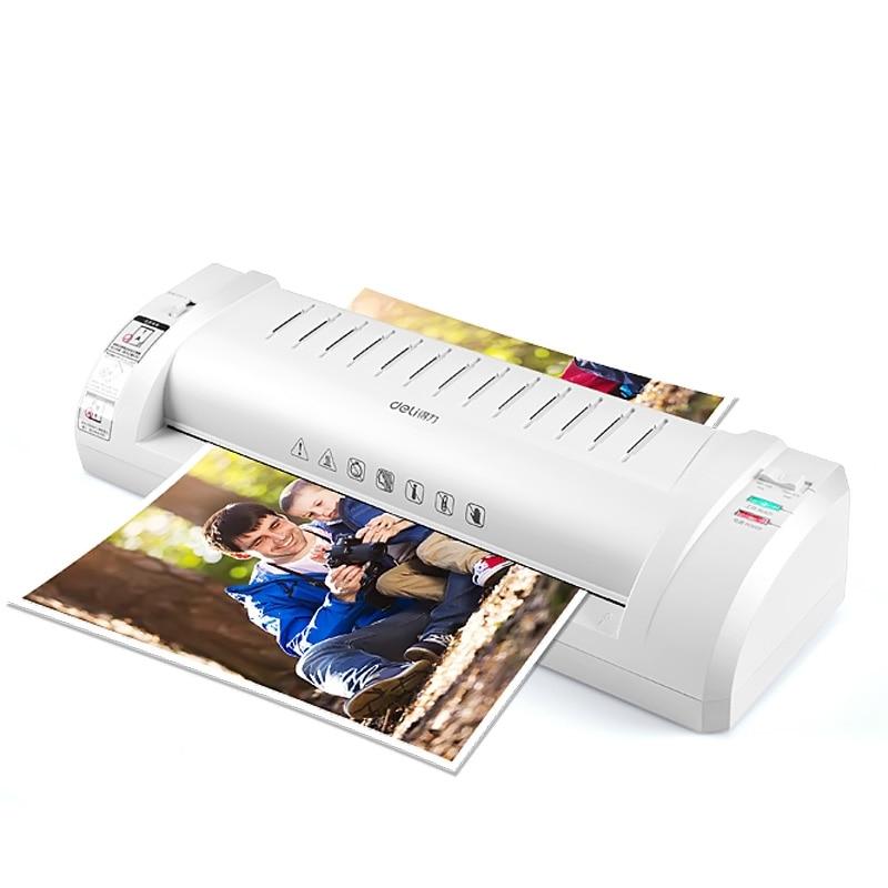 Deli Machine Plastificadora Photos Laminator A3/A4 Laminadora Office Home Business Laminating Machine Fast Speed Film Laminating