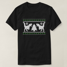 Funny T-rex Ugly Christmas Sweater 2018 Harajuku T Shirt Men Hipster Broadcloth Summer Fashion O Collar T-shirt