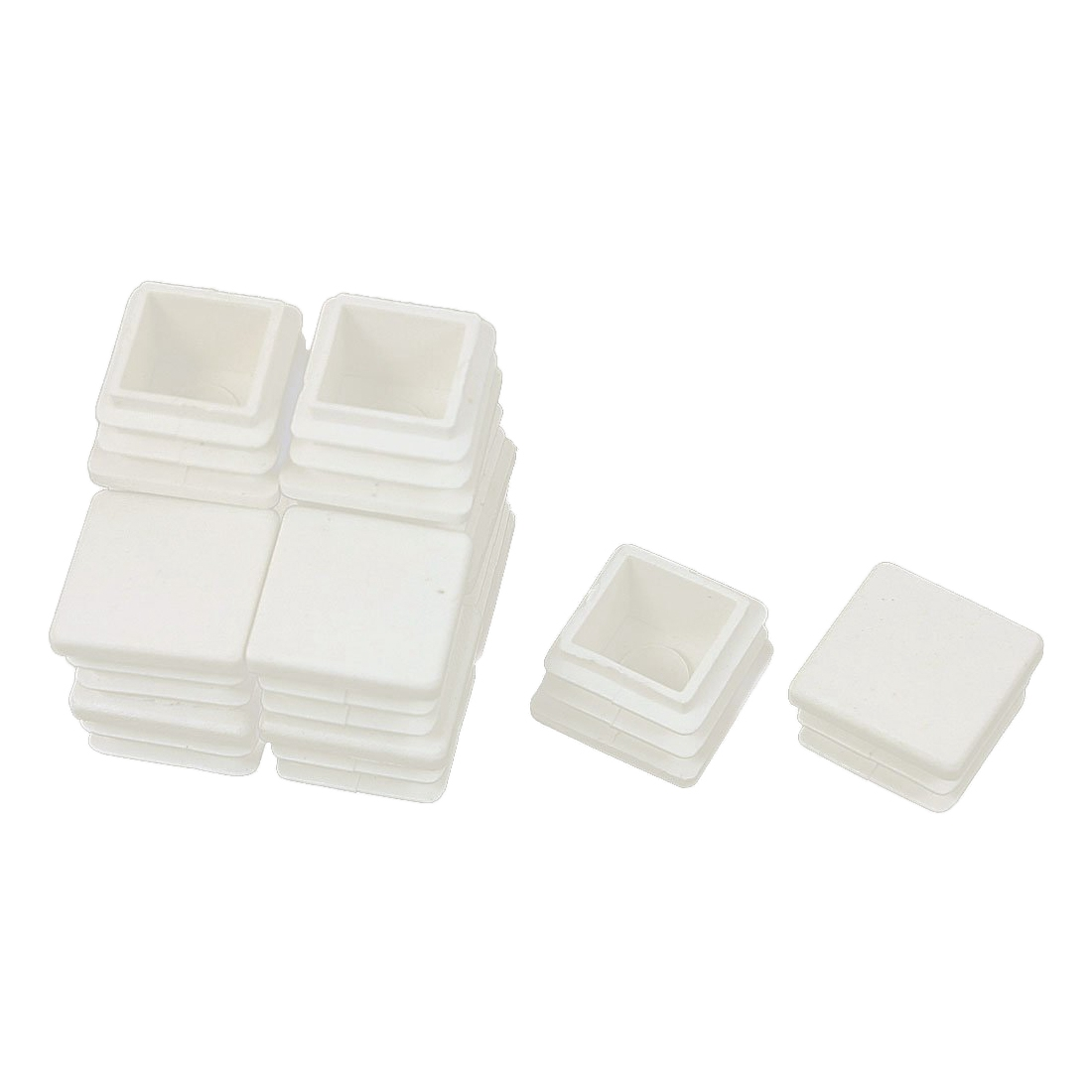 Hot Sale 20 Mm X 20 Mm Plastic White End Caps Blanking Version Of The Caps Spare Caps Accessories For Professional Square Tube