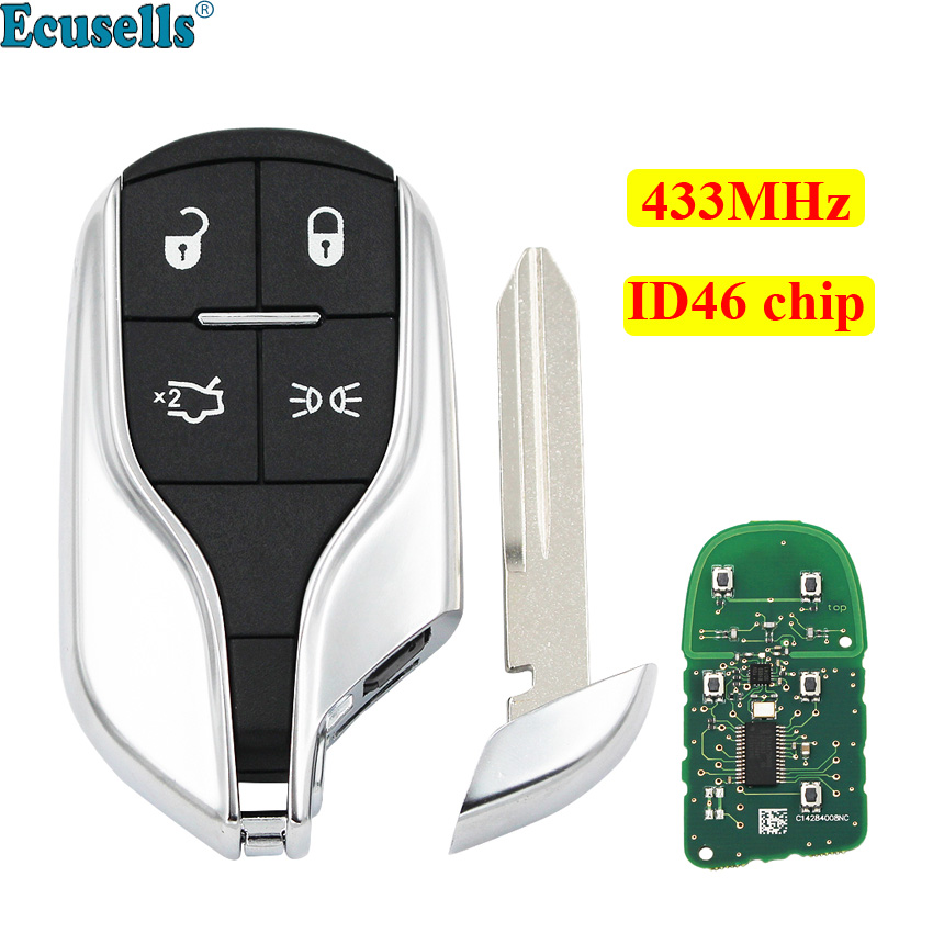 Smart Card Remote key for Maserati President Ghibli Levant 433MHZ with ID46 chip|Car Key| |  - title=