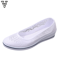 VTOTA Women Flats Spring Autumn Shoes Woman Cotton Fabric Casual Shoes Woman Breathable Lady Shoes 4