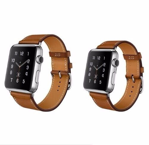 Series 4/3/2/1 Genuine Leather Leather strap For Apple Watch Single Tour band 38mm 42mm 40mm 44mm For iwatch wristband leather strap for apple watch 38 42mm 40 44mm single double tour genuine replacement leather band for iwatch series 1 2 3 4