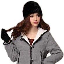 New Fashion Winter Warm Fluffy Fur Hat Head knitted Beanie Hat