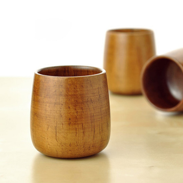 Quality Natural Wood Cup Classic Wooden Wine Glass Japanese Sake Cup