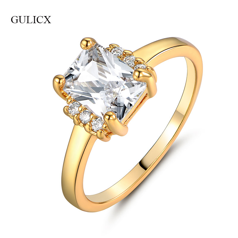 Aliexpress Com Buy 1440pcs Gold Bottom Crystal Clear: GULICX Elegant Design Yellow Gold Color For Wedding Clear