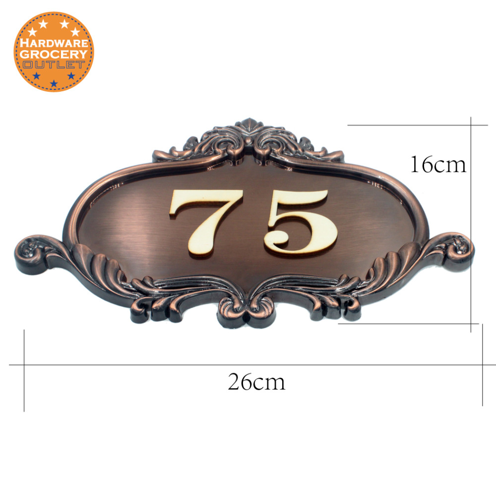 House Number European style Door Sign,Gate Number Custom-made Apartment Villa door plate ...