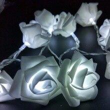 YIYANG мероприятий и вечеринок 2 м 20 Свадебные розы светодио дный строки Батарея украшение праздника свет Роза светодио дный Guirlande Lumineuse