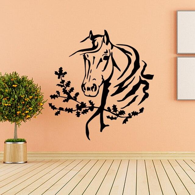 Wall Sticker Room Decor Art Vinyl Sticker Mural Decal Horse Head ...