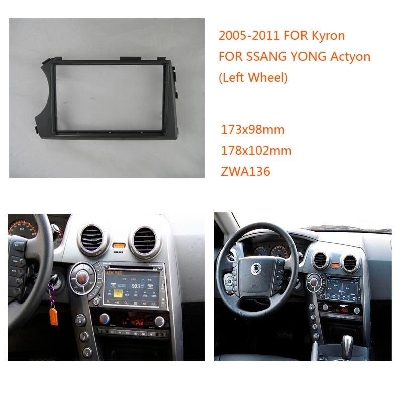 Autoradio fascia für SSANG YONG Actyon Kyron 2005-2011 linkslenker